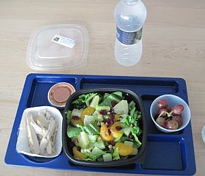 Healthy lunch choice available at Poland School's Fresh Express line