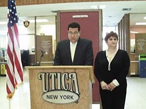 Utica Mayor David Roefaro and First Lady Cindy Roefaro