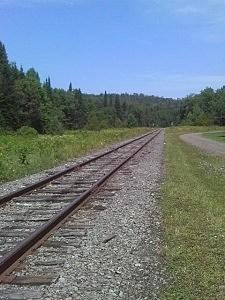 Adirondack Scenic Railroad Tracks, Old Forge, NY