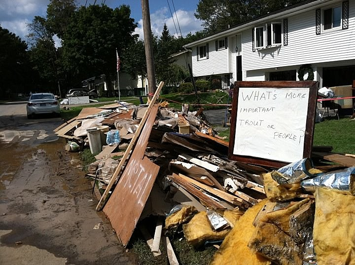 Damage from Hurricane Irene and