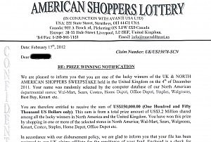 Europe and north american shoppers sweepstake