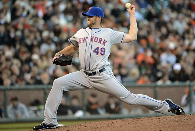 SAN FRANCISCO, CA - AUGUST 1: Jonathon Niese #49 of the New York Mets pitches against the San Francisco Giants at AT&T Park on August 1, 2012 in San Francisco, California. (Photo by Thearon W. Henderson/Getty Images)