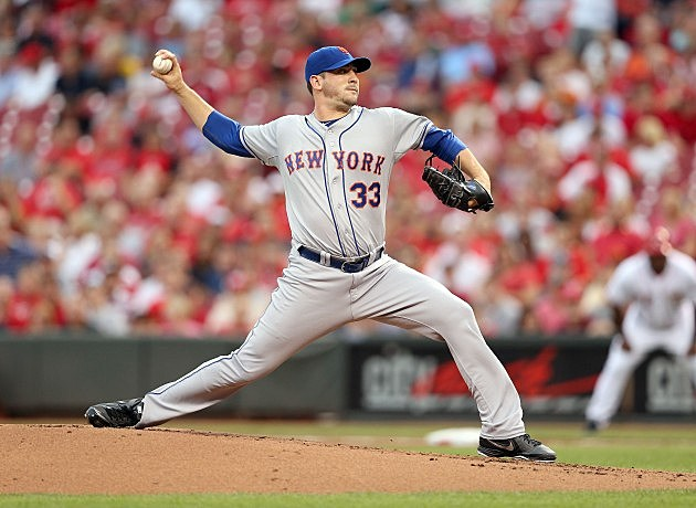CINCINNATI, OH - AUGUST 16: Matt Harvey #33 of the New York Mets throws a pitch during the game against the Cincinnati Reds at Great American Ball Park on August 16, 2012 in Cincinnati, Ohio. (Photo by Andy Lyons/Getty Images)
