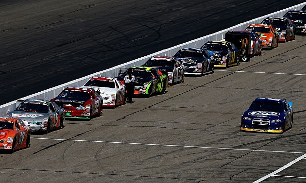LOUDON, NH - SEPTEMBER 21: Brad Keselowski drives the #2 Miller Lite Dodge down pit road during practice for the NASCAR Sprint Cup Series Sylvania 300 at New Hampshire Motor Speedway on September 21, 2012 in Loudon, New Hampshire. (Photo by Jared Wickerham/Getty Images for NASCAR)