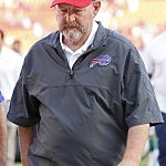 MIAMI GARDENS, FL - DECEMBER 23: Head coach Chan Gailey of the Buffalo Bills leaves the field after the loss to the Miami Dolphins on December 23, 2012 at Sun Life Stadium in Miami Gardens, Florida. The Dolphins defeated the Bills 24-10. (Photo by Joel Auerbach/Getty Images)