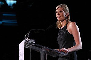 NEW YORK - NOVEMBER 10: Kate Snow speaks at the L'Oreal Legends Gala to Benefit The Ovarian Cancer Research Fund at American Museum of Natural History on November 10, 2008 in New York City. (Photo by Bryan Bedder/Getty Images)