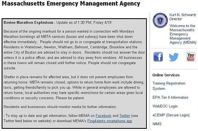 Massachusetts Emergency Management