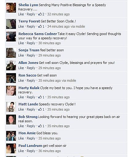 get well clyde facebook