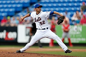 PORT ST. LUCIE, FL - FEBRUARY 27: Carlos Torres #52 of the New York Mets pitches against the St. Louis Cardinals at Tradition Field on February 27, 2013 in Port St. Lucie, Florida. (Photo by Chris Trotman/Getty Images)