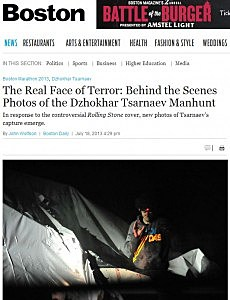 Dzokhar Tsarnaev, Boston Police Sergeant Sean Murphy in Boston Magazine