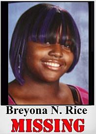 Onondaga teen Breyona Rice is missing.