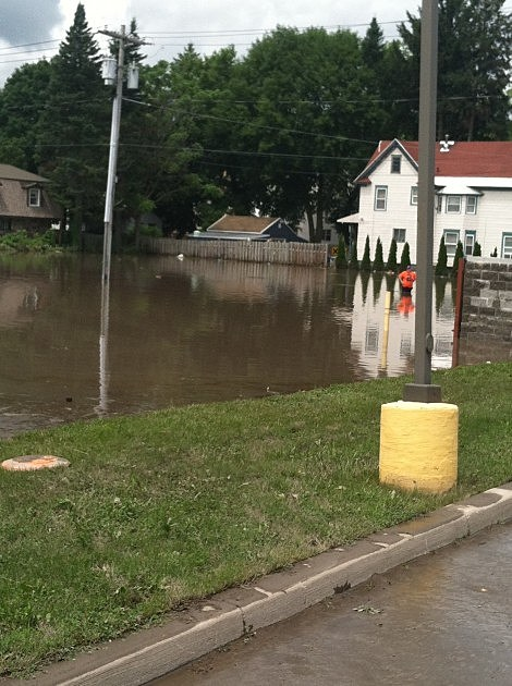 Flooding on Albany Street in Herkimer