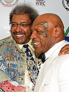 Mike Tyson with Don King