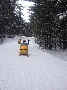 Father Sean O'Brien's sled