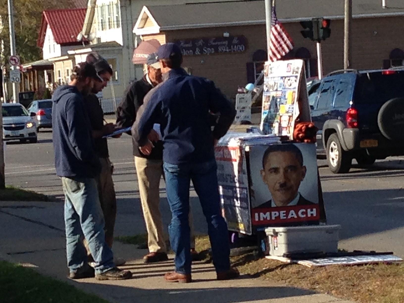 Obama Protest Ilion
