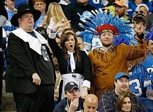 Detroit Lions fans on Thanksgiving