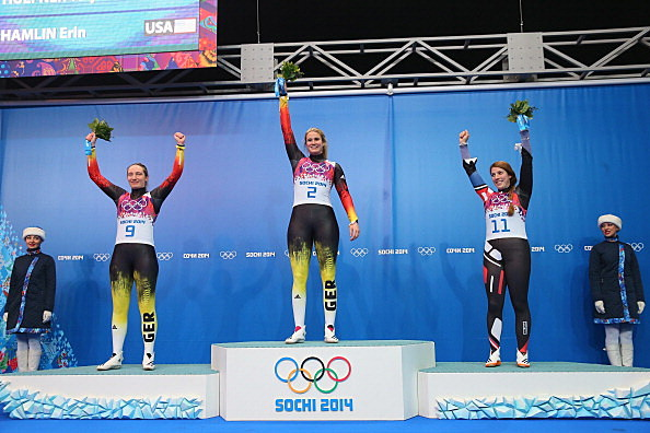 Erin Hamlin wins the Bronze