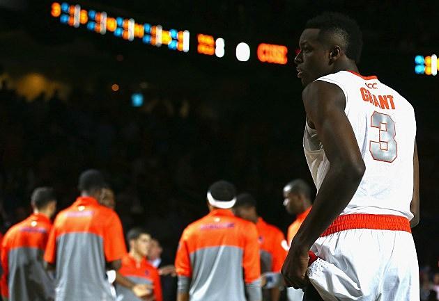 Jerami Grant during the quarterfinals of the 2014 Men's ACC Basketball Tournament at Greensboro Coliseum on March 14, 2014 in Greensboro, North Carolina.