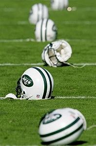 New York Jets helmets