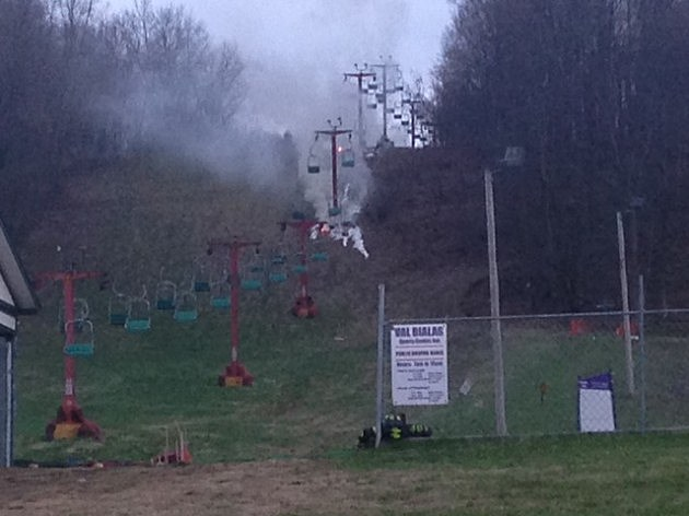 Several small fires along Val Bialas Ski Chalet in Utica (5/2/14)