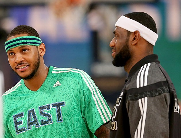 NBA All-Star Game 2014 - LeBron James and Carmelo Anthony