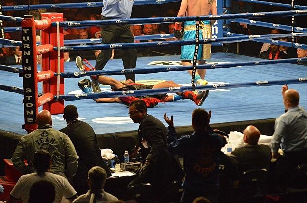 Ievgin 'The Ukranian Lion' Khytrov vs Chris Chatman at ESPN Friday Night Fights at Turning Stone Resort and Casino  (June 6, 2014 ESPN Friday Night Fights at Turning Stone, Verona, NY - photo: Jeff Monaski, WIBX)