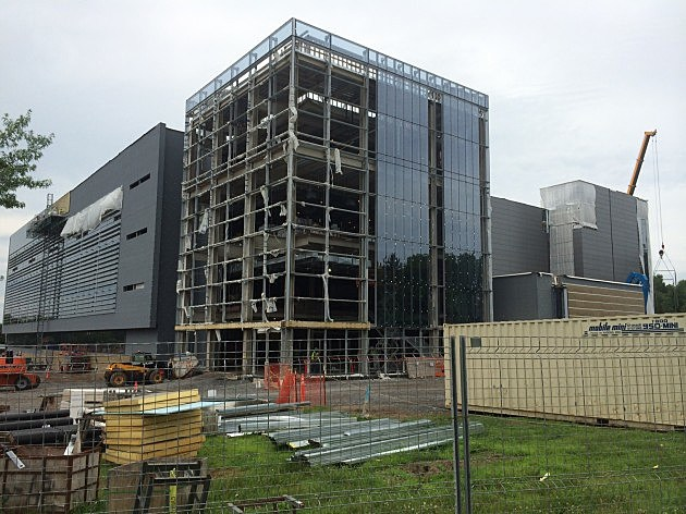 Quad C on the campus of SUNYIT in Marcy, NY. Ongoing construction in July of 2014
