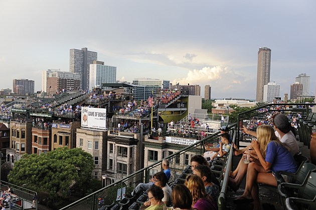 Rooftop Seating Across the street from Wrigley Field