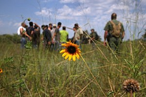 FALFURRIAS, TX - JULY 22: A U.S. Border Patrol agent watches undocumented immigrants after taking them into custody on July 22, 2014 near Falfurrias, Texas. Thousands of immigrants, many of them minors, have crossed illegally into the United States this year, causing a humanitarian crisis on the U.S.-Mexico border. Texas Governor Rick Perry announced that he will send 1,000 National Guard troops to help stem the flow. (Photo by John Moore/Getty Images)