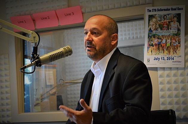Terry Cascioli, new publisher of Utica Observer Dispatch (photo: Jeff Monaski, WIBX - July 16,2014)