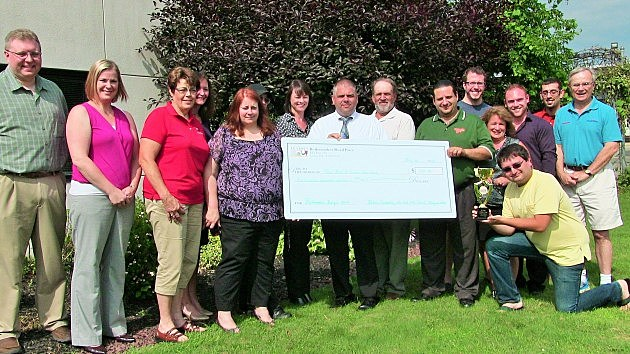 CNY Food Bank presented with a check from donations of 2014 Boilermaker Burger (July 21, 2014)