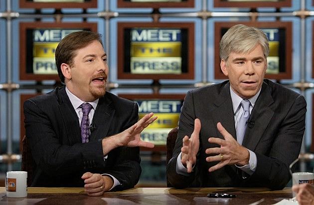 left: Chuck Todd, right: David Gregory