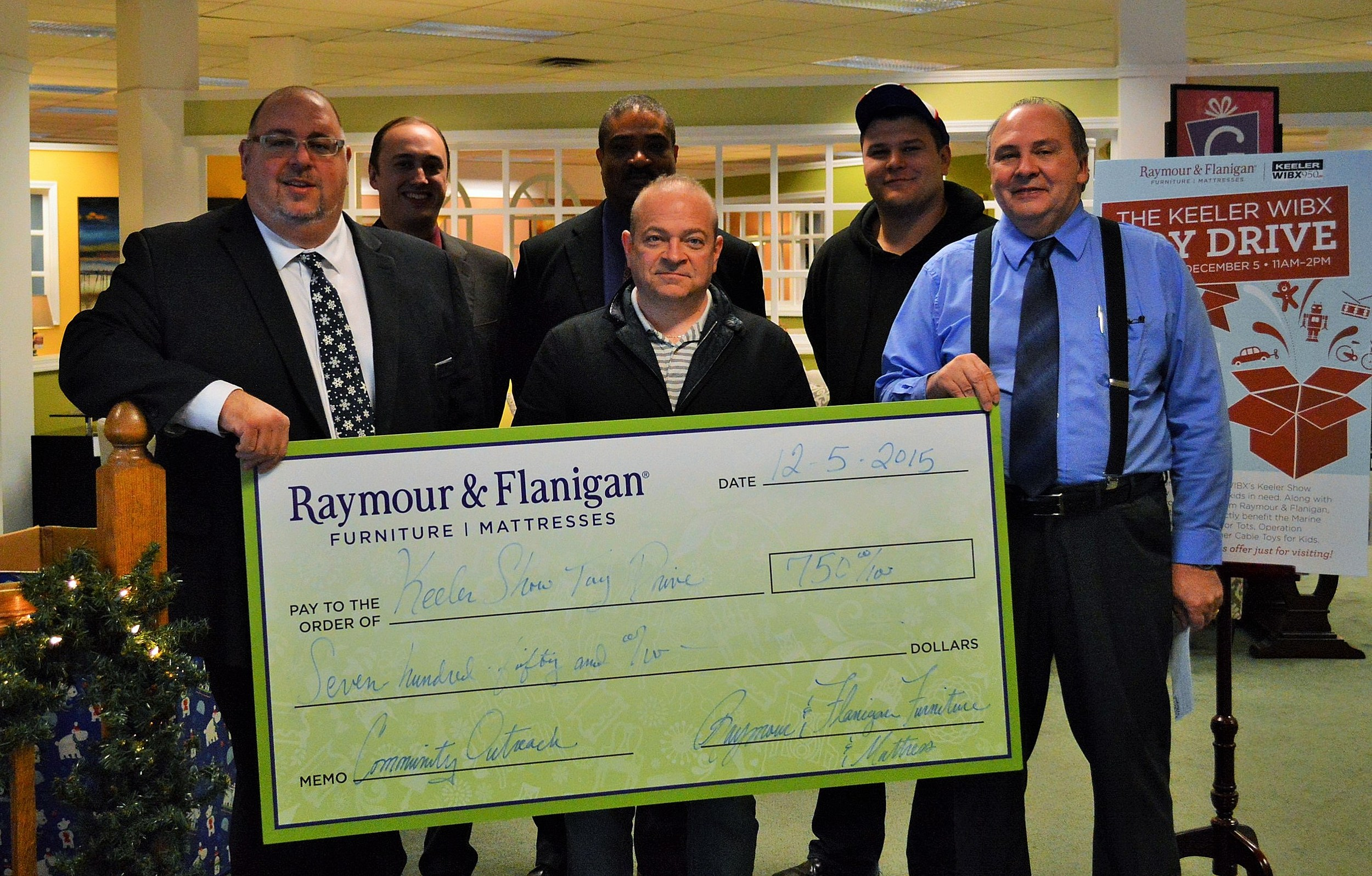 Raymour and Flanigan Supports Keeler Toy Drive