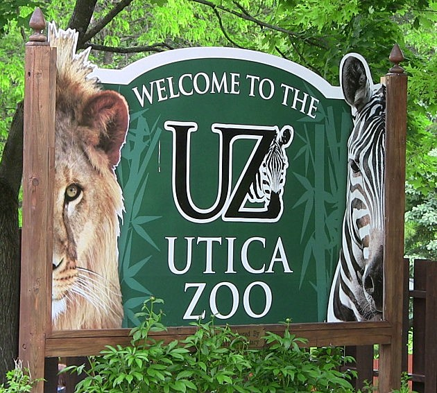 The Sign In Front of the Utica Zoo