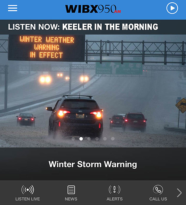 (App Screenshot / Bill Keeler / WIBX)