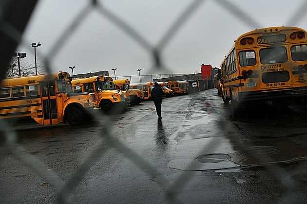 New York City School Bus Drivers Strike For Better Job Protection