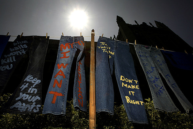 Students Speaks Out Against Rape on Denim Day