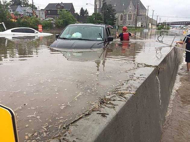 Utica arterial flooding (credit: Brennan family)