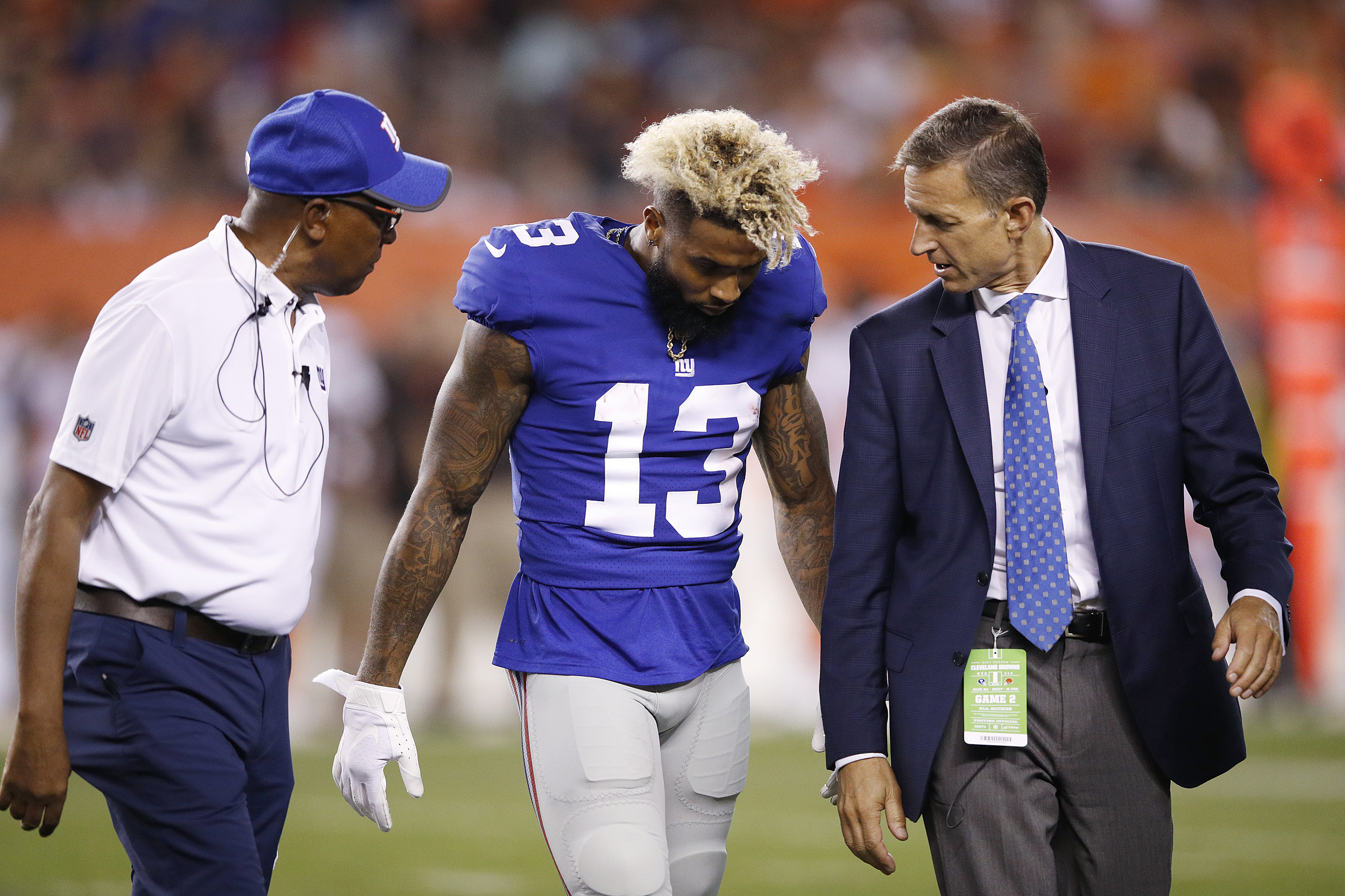 Giants' Beckham, Jr. Could Miss Season Opener vs. Cowboys